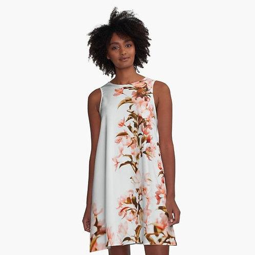 Cherry Blossoms A-Line Dress