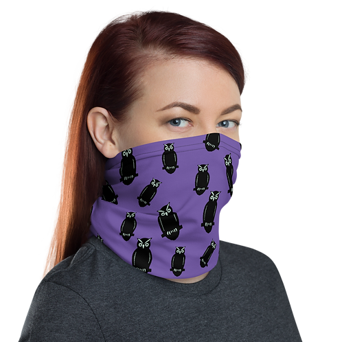 Black and Mint Owls Gaiter woman right