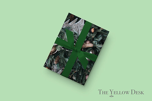 Woodland Gift Wrap on green