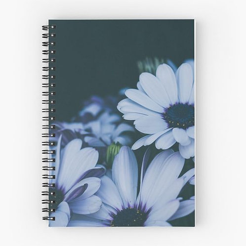 Purple Daisies Spiral Notebook Front