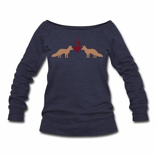 Fox Love Wideneck Sweatshirt