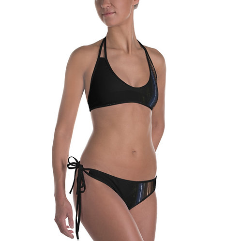 Neon Stripes Reversible Bikini