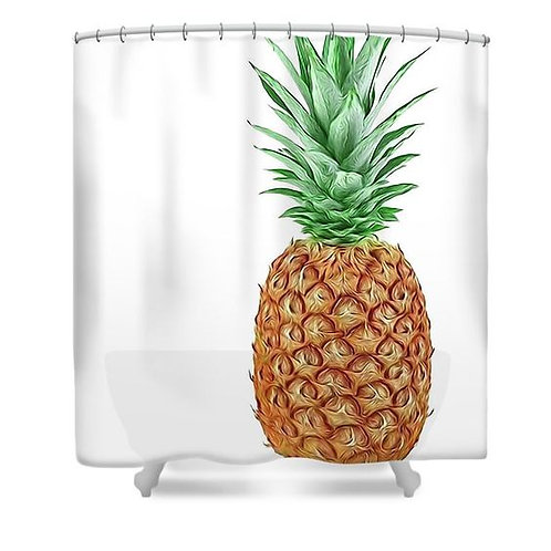 Pineapple Power Shower Curtain