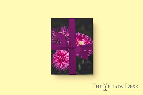 Pocket Full of Purple Mums Gift Wrap verticle