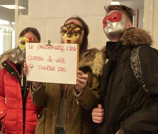1er décembre au Lycée Beaupré : journée mondiale contre le SIDA