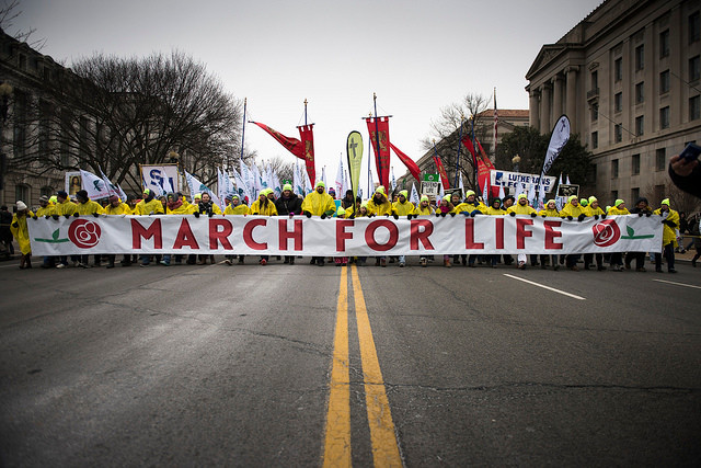 43e March for life, 22 janvier 2016, Washington. CREDIT: Jeffrey Bruno/ALETEIA.