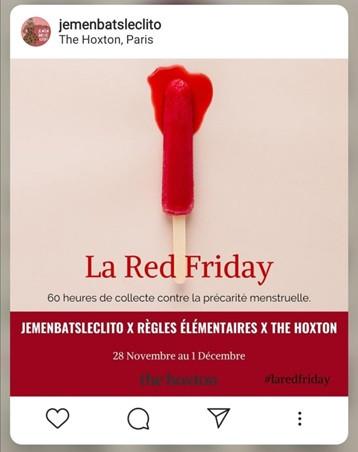 La « Red Friday » ou comment lutter contre la précarité menstruelle