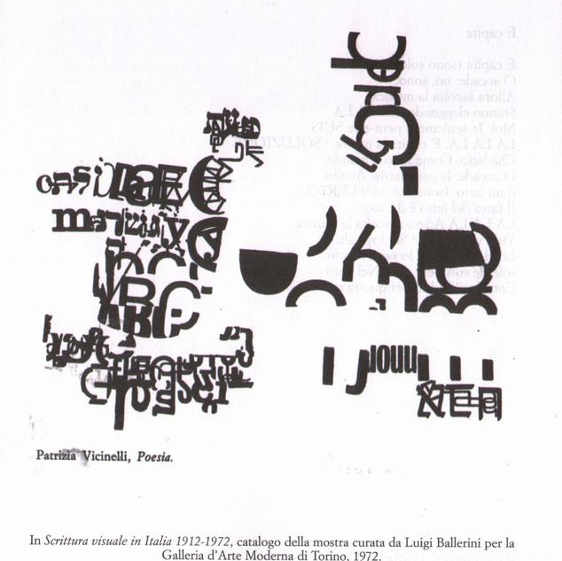 Patricia Vicinelli, Poesía, Mostra Galleria d'Arte Moderna di Torino, 1972