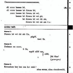 Kurt Schwitters, Ursonate, 1932