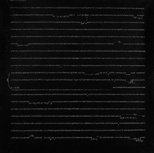 Carlo Alfano, Frammenti di un autoritratto anonimo no.72, 1974 #asemicwriting