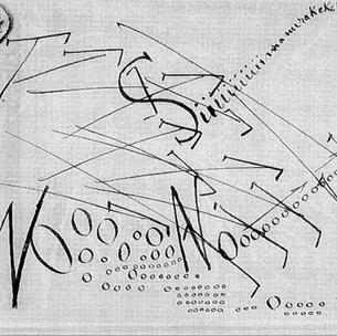 Filippo Tommaso Marinetti, Action, 1915-1916   Parole in libertà