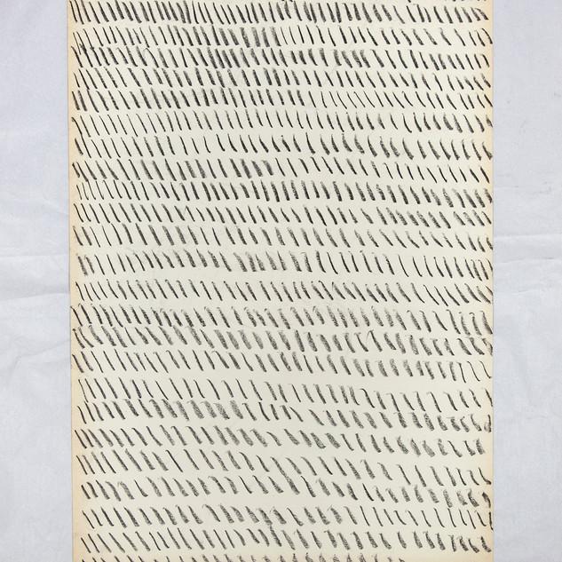 Giorgio Griffa, Pastel on paper, 1968