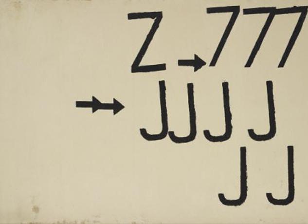 Jannis Kounellis, Alfabeto 1958-)