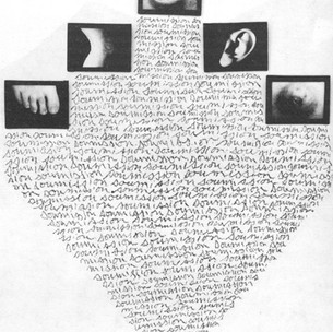 Annette Messager, Mes ouvres,1988 #asemicwriting