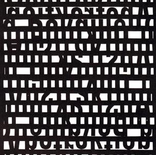 Franz Mon, Schriftcollage, 1963