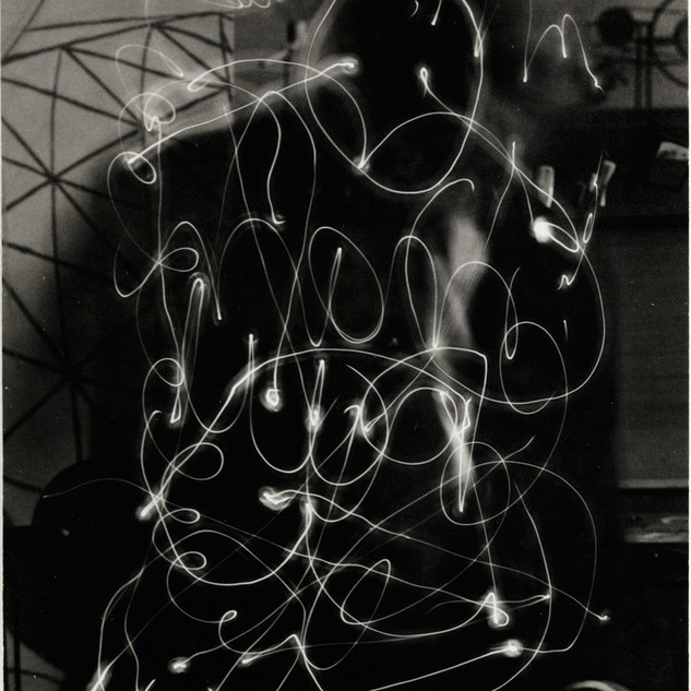 Man Ray, Space Writing (Self-portrait), 1935