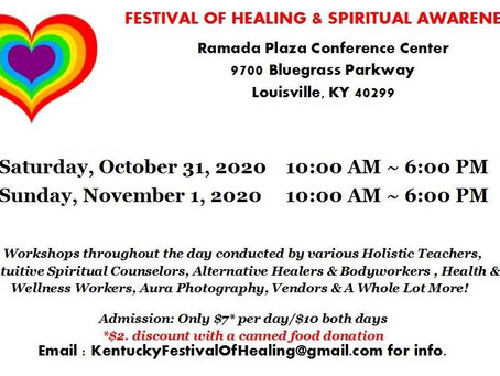 I Will Be at Festival of Healing and Awareness