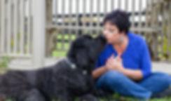 Latifa and dog