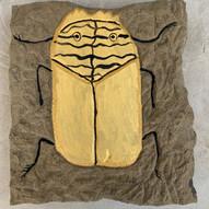Skarabäus-Käfer, Steinrelief