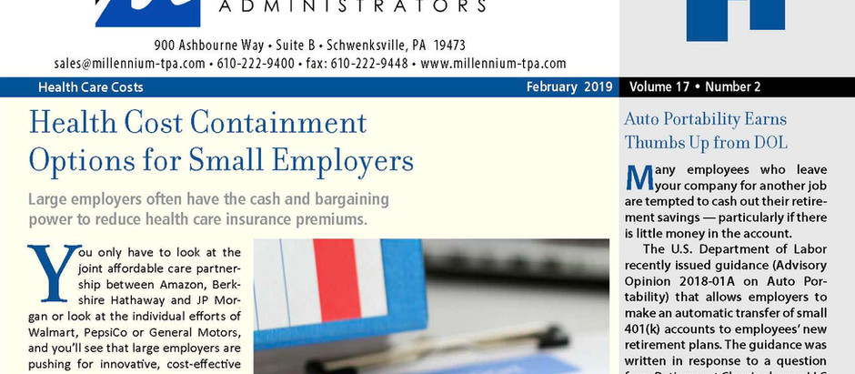 Health Cost Containment Options for Small Employees