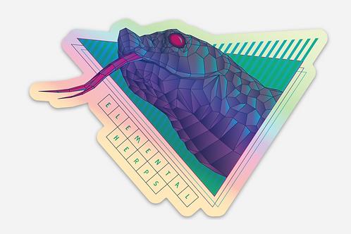 80's Holographic Vinyl Sticker