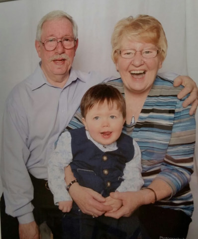 Lesley and Ann Agnew with grandson Ronin