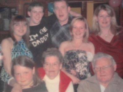 Jimmy and Joyce with grandchildren
