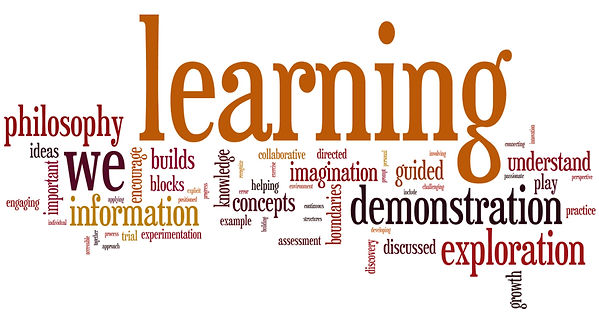 Word art with words related to learning