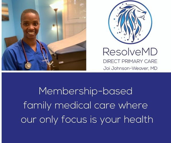 Dr. Johnson-Weaver and the Lion are on top of the clinic mission: Membership-based family medical care where our only focus is your health.