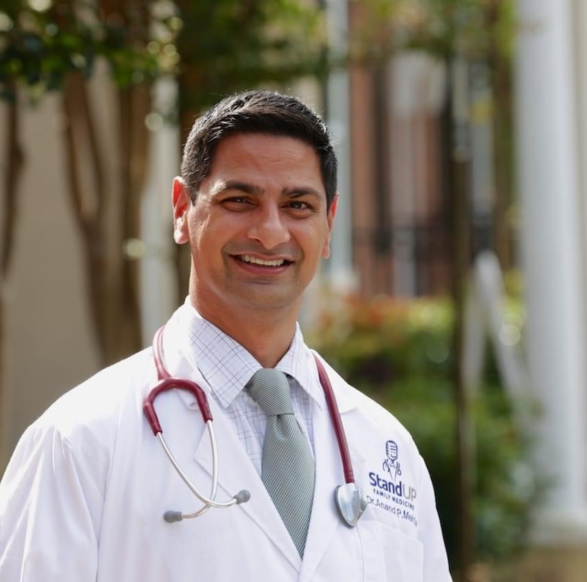 Dr. Mehta wears his DPC White Coat