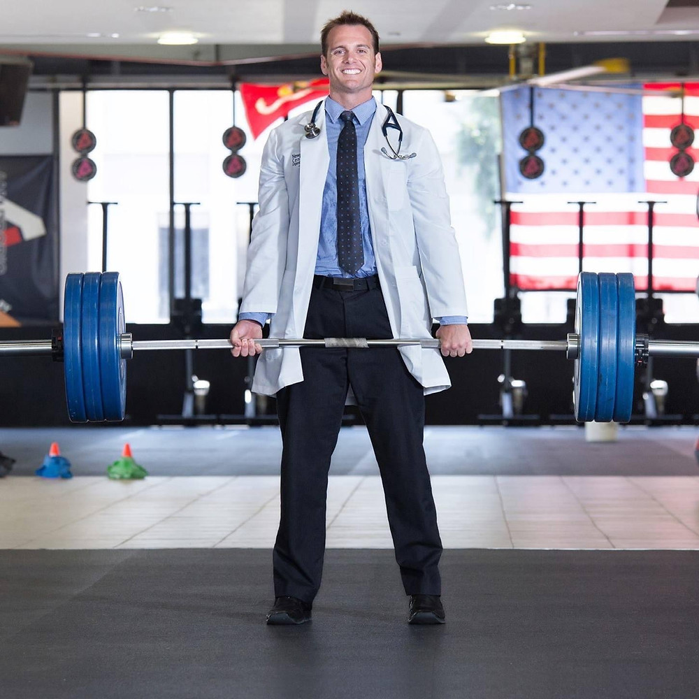 Dr. Schulte's practice is located inside Resolution CrossFit.