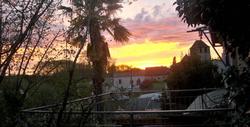 coucher de soleil au relais de la renaissance