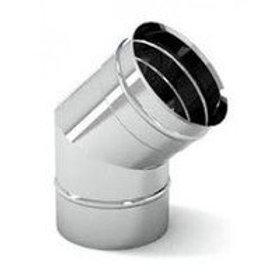 Колени 45° для дымохода одностенные из нержавеющей стали