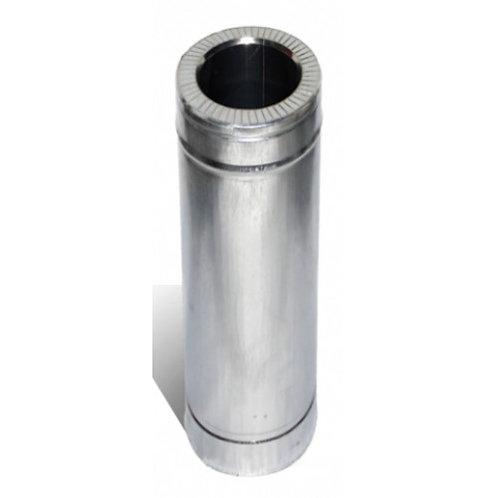 Трубы L=0,5м из нержавеющей стали в оцинкованном кожухе