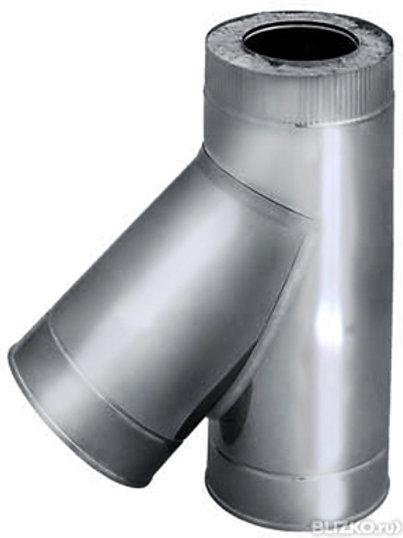 Тройники 45° из нержавеющей стали в оцинкованном кожухе