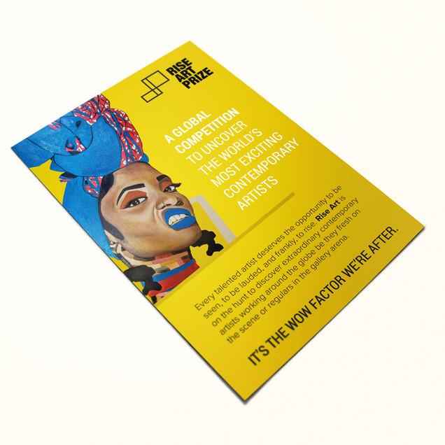 Rise Art Prize flyer