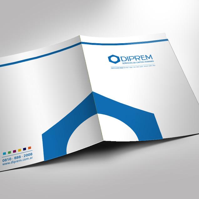 Diseño de marca paraguas y sistema. Carpetas: diseño y producción.