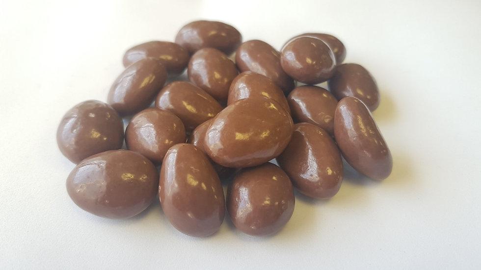 almendras con chocolate con leche