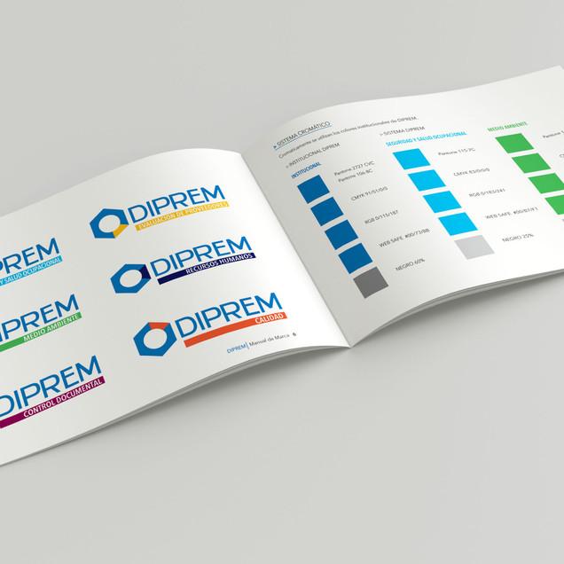 Diseño de marca paraguas y sistema. Manual de usos y normas de la la nueva imágen
