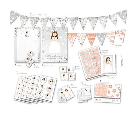Kit Decoración Comunión personalizado Little Prints