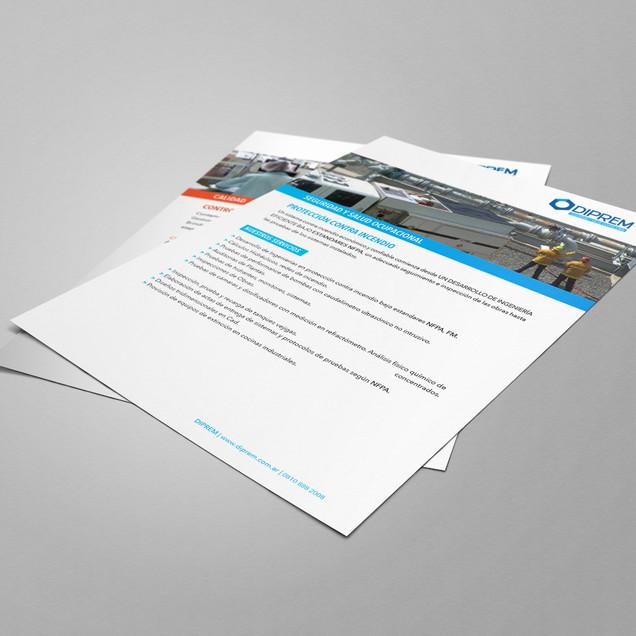 Diseño de marca paraguas y sistema. Flyers A4: diseño y producción.