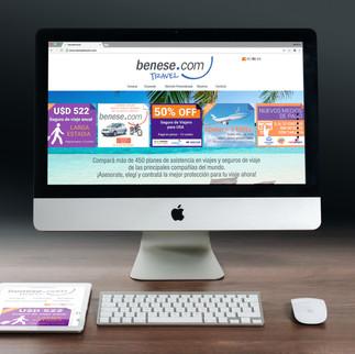 Benese travel - web responsive