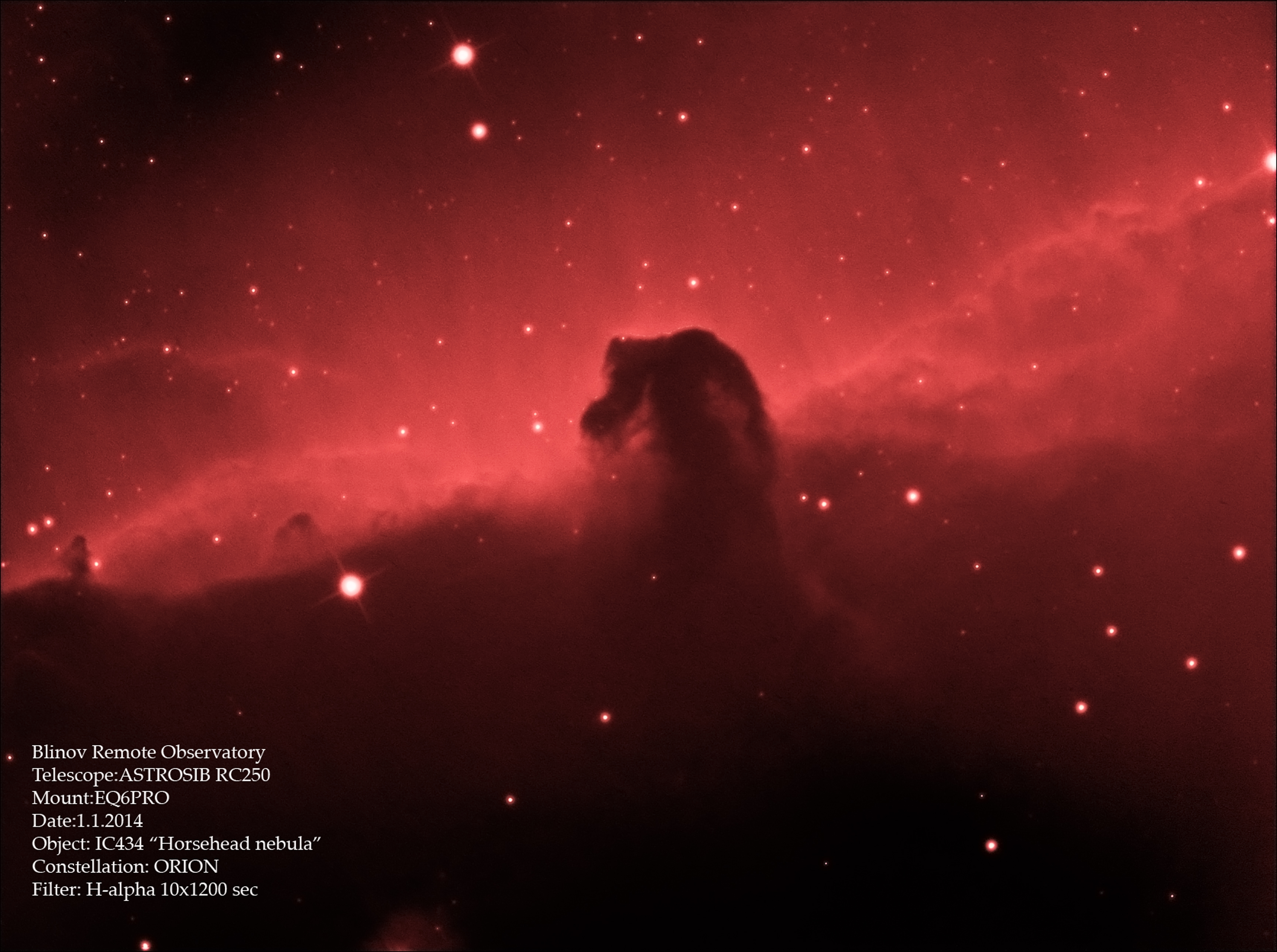 """IC 434 """"Horsehead nebula"""""""