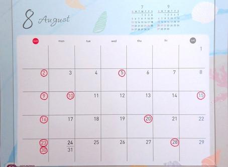 8月の営業日について🍉