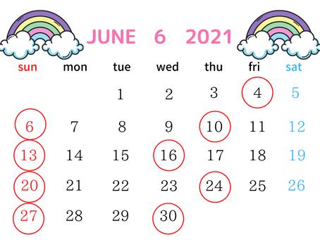 6月の営業日について🌈