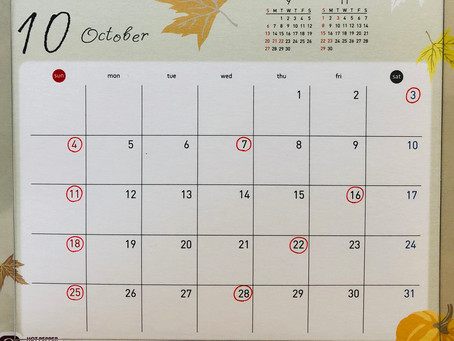 10月の営業日について🎃