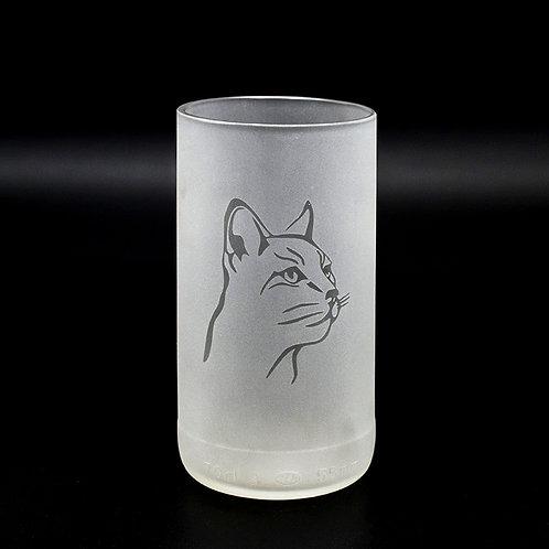 Trinkglas mit Siamkatze