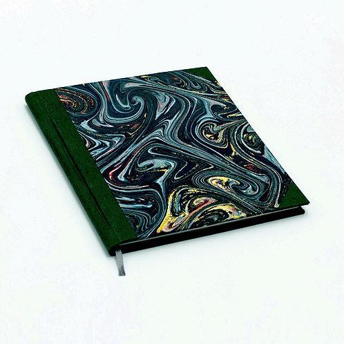 Notizbuch batik-grün