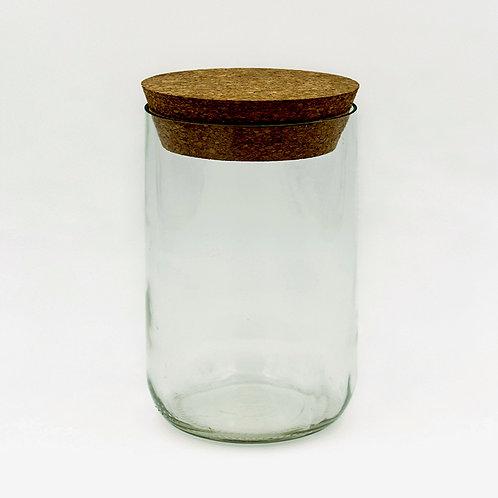Vorratsglas klar mit Korken