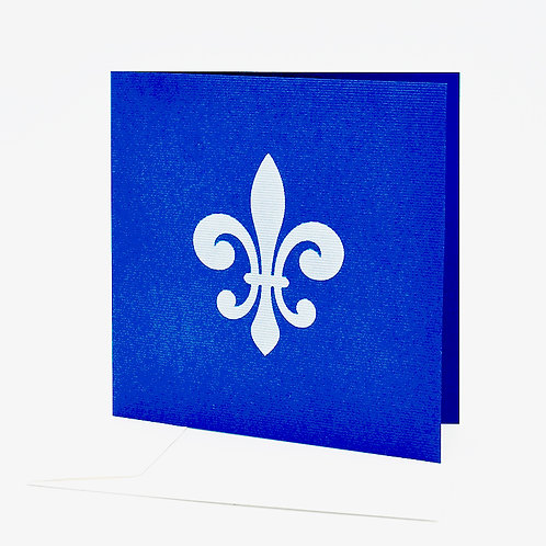 Postkarte blau